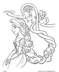 Tangled Coloring Sheets on Tangled   Coloring Pages   Earlymoments Com