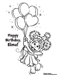 Sesame Street Coloring Pages Birthday