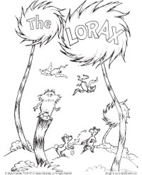 image relating to Dr.seuss Printable Coloring Pages titled pet dog coloring sheets : Lorax Coloring Web pages Ff255
