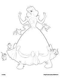 cinderellas new dress coloring page