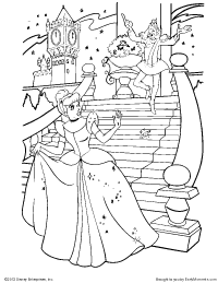 the clock strikes midnight coloring page