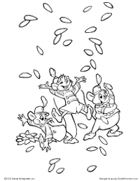 the mice celebrate coloring page
