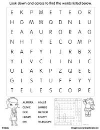 doc mcstuffins activity page - Printable Fun Activities