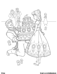 Kristoff Anna Elsa And Olaf Coloring Page Frozen Fever Free Printable Pages Earlymoments Com
