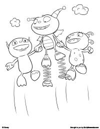 henry hugglemonster coloring page 1
