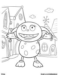 henry hugglemonster coloring page 2