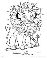Free Printable The Lion King Coloring Pages Earlymomentscom