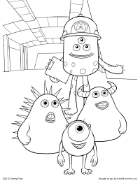 Fungus and Friends Coloring Page