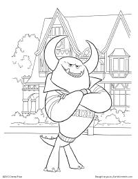 Free Printable Monsters University Activities  Earlymomentscom