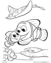 Finding Nemo  Coloring Pages  Earlymomentscom