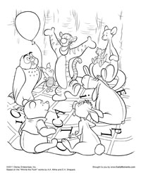 Free Printable Winnie the Pooh Coloring Pages  Earlymomentscom