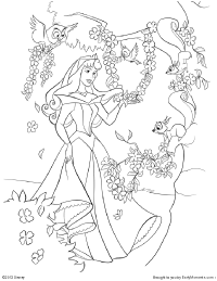 Free Printable Sleeping Beauty Coloring Pages  Earlymomentscom