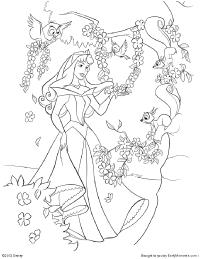 princess aurora coloring page