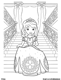 Free Printable Sofia the First The Magic of Kindness Coloring