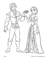 flynn and rapunzels coloring page - Rapunzel Coloring Pages To Print