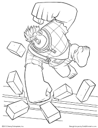 Wreck-It Ralph's Coloring Page
