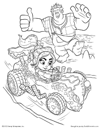 Vanellope's Coloring Page