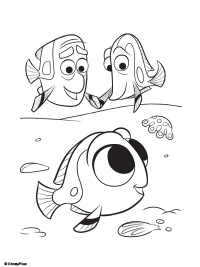 Finding Dory Coloring Page 1