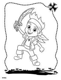 jake and the never land pirates treasure hunters coloring page