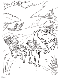 the lion guard coloring page 1