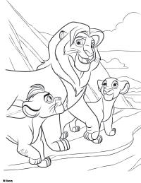 Free Printable The Lion Guard Coloring Pages Earlymomentscom