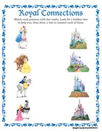 royal connections - Disney Princess Activities