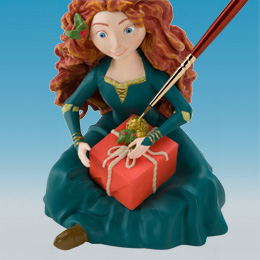 Detail of the Disney's Merida ornament being painted