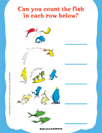 One Fish Two Fish Activity Page