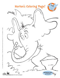 Dr. Seuss' Horton Hears a Who Activities, Coloring Pages & Games ...